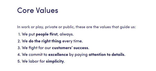 ExactMetrics Core Values