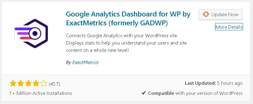 Google Analytics Dashboard for WP (GADWP) 1 Million Downloads