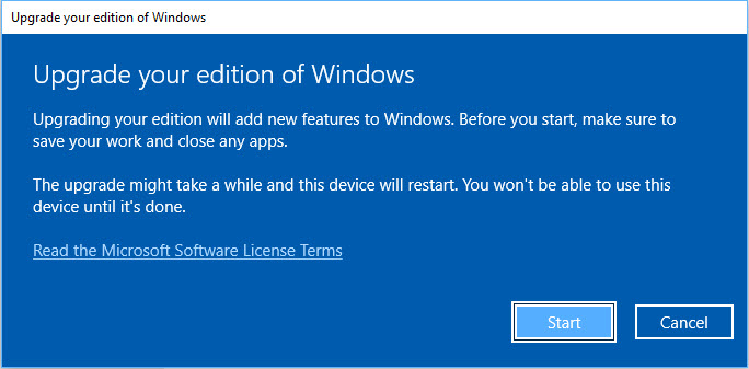 Windows 10 Home to Windows 10 Pro Update for Free