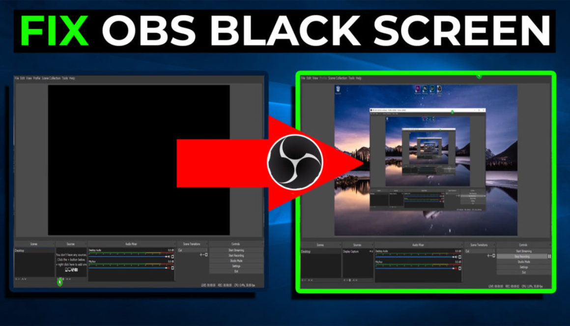 FIX OBS BLACK SCREEN display capture - Cover