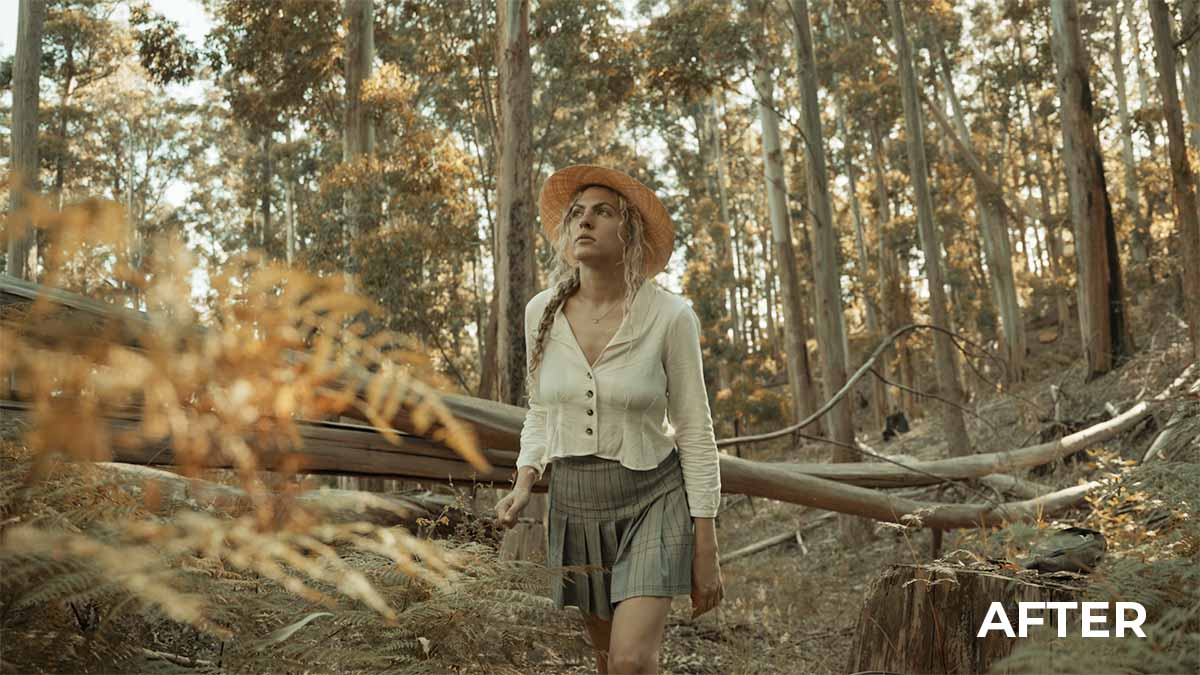 Woman in Forest - LUT