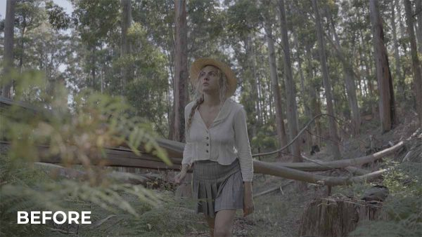 Woman in Forest - RAW