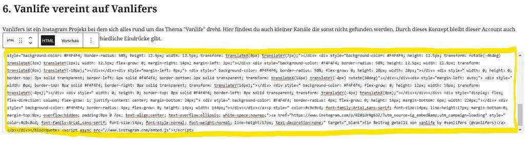 Step 05 - Paste Code Snipet into WordPress