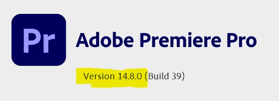 What Premiere Pro Version do i have