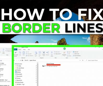 Windows 10 window border lines missing - Cover